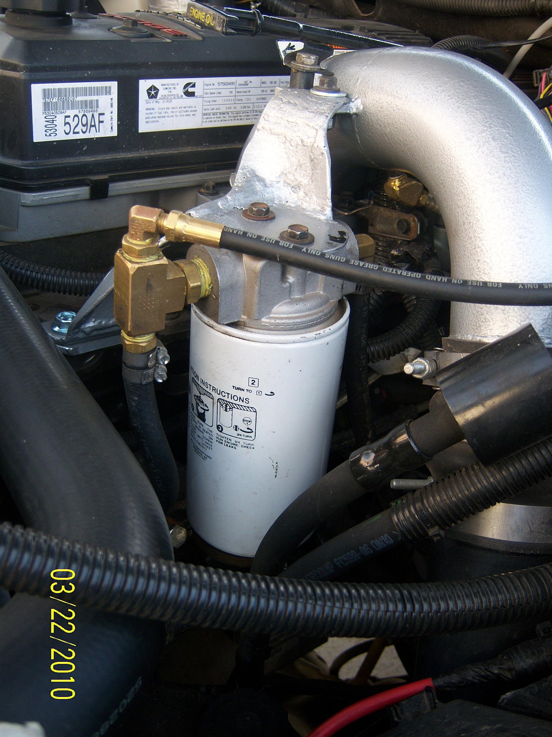Want to build a 2 micron fuel filter setup....part # please - Dodge